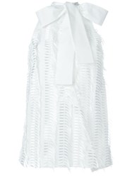 Chalayan Frayed Panel Sleeveless Top White