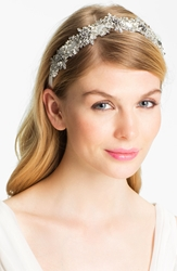 Halo And Co 'My Fairy Lady' Crystal Ribbon Headband Silver