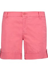 Tory Burch Cotton Blend Twill Shorts Pink