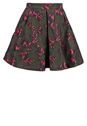 Banana Republic Mini Skirt Pink Multi Black Multicoloured