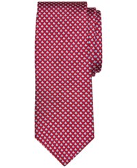 Brooks Brothers Men's Micro Sailboat Pattern Classic Tie Red