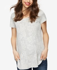 A Pea In The Pod Maternity Ruched T Shirt Grey White Floral