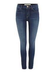 Wrangler Exclusive High Rise Skinny Body Jeans Denim Mid Wash