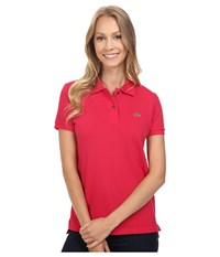 Lacoste Short Sleeve Classic Fit Pique Polo Shirt Strawberry Pink Women's Short Sleeve Knit