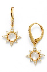 Nadri Women's Holiday Star Drop Earrings White Mop Gold