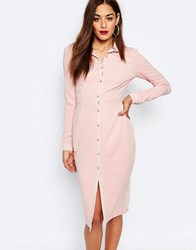 Missguided Pencil Shirt Dress Nude Beige
