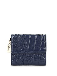 Versace Quilted Leather Wallet Blue
