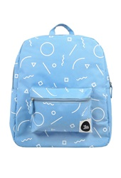 Forever 21 The Whitepepper Graphic Print Canvas Backpack Blue White