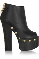 Giuseppe Zanotti Studded Black Leather Platform Boots