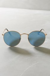 Anthropologie Ray Ban Classic Round Sunglasses Blue