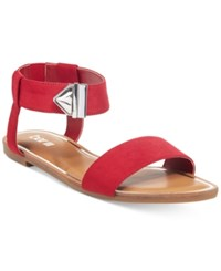 Bar Iii Victor Two Piece Flat Sandals Only At Macy's Women's Shoes Red