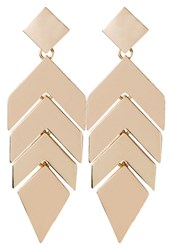 Aldo Tranquilia Earrings Matte Goldcoloured