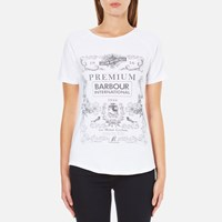Barbour International Women's Charade T Shirt White