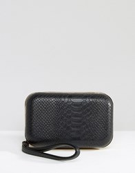 Lavand Box Clutch Bag Black
