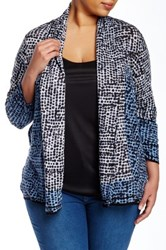 Nic Zoe Lightweight Spots And Dots Cardi Plus Size Multi