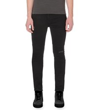 Allsaints Bors Hoxley Wilkins Slim Fit Tapered Jeans Black
