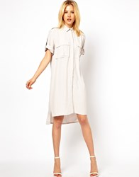 Asos Military Shirt Dress Black