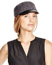 August Accessories Boucle Military Cap Gray