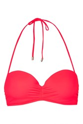 Topshop Ruche Braided Bandeau Top Red