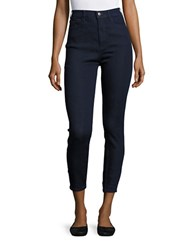 Free People High Waisted Skinny Cropped Jeans Blue