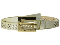 Vince Camuto 20Mm Saffiano Panel W Mini Diamond Perf Gold Women's Belts