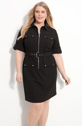 Plus Size Women's Michael Michael Kors Shirtdress Black