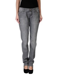 Jaggy Denim Pants Grey