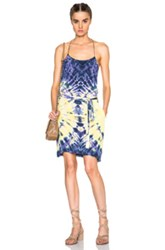 Raquel Allegra Spaghetti Strap Dress In Ombre And Tie Dye Purple