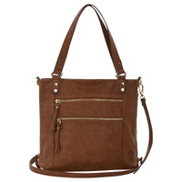 Oasis Katie Zip Satchel Tan