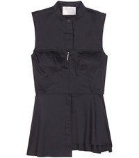 Jason Wu Cotton Bustier Shirt Black