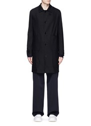 Maison Martin Margiela Cotton Twill Trench Coat Black