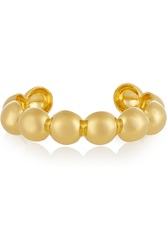 Arme De L'amour Large Sphere Gold Plated Cuff