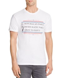 Kid Dangerous Political Party Graphic Tee White