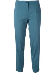 Etro Cropped Trousers Blue