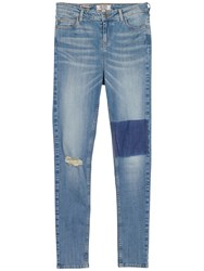 Fat Face Highwaist Superskinny Patch Jeans Denim