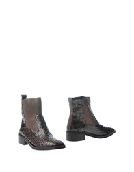 Rebeca Sanver Ankle Boots Dark Brown