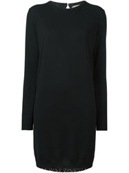 N 21 Nao21 Long Sleeve Knit Dress Black
