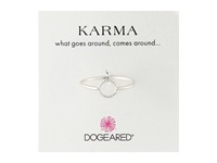 Dogeared Tiny Sparkle Karma Circle Ring Sterling Silver Ring
