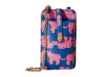 Lilly Pulitzer Call Or Id Crossbody Indigo Pack Your Trunk Cross Body Handbags Pink