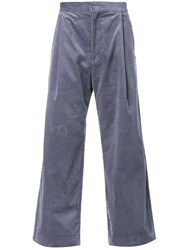 H Beauty And Youth. Wide Leg Corduroy Trousers Grey