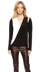 Kaufman Franco Long Sleeve Top Onyx