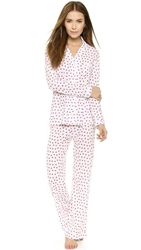 Only Hearts Club Heritage Heart Pjs White Red
