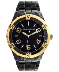 Sean John Men's Black Ion Plated Bracelet Watch 51Mm 10026861