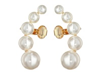 Sam Edelman Rodeo Show Pearl Ear Cuff White Gold Earring