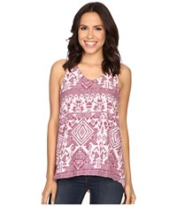 Rock And Roll Cowgirl Sleeveless Top B5 7066 Hot Pink Women's Sleeveless