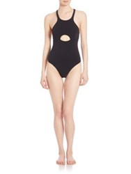 Free People Solid One Piece Swimsuit Black
