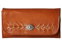 American West Mohave Canyon Trifold Wallet Golden Tan Wallet Handbags