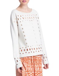 Plenty By Tracy Reese Eyelet Pullover Top Natural