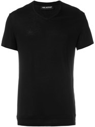 Neil Barrett V Neck T Shirt Black