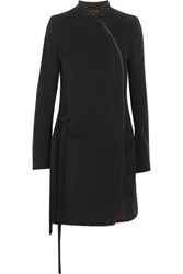 Ann Demeulemeester Wool Blend Felt Jacket Black